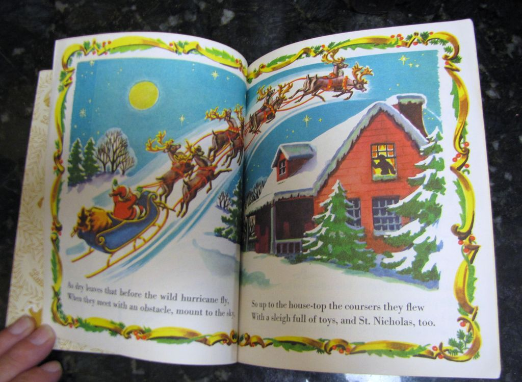 Santa's Toy Shop and The Night Before Christmas, Little Golden Books ...