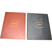 SALE 1881 & 1887 Merry Songs and Games, Rare Victorian Childrens Songbooks