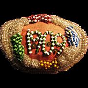 SALE Beautiful Antique American Indian 1909 Beadwork Pin Box