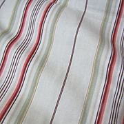 "Super  66"" Bolt End of 12 Color Screen Printed Cotton Stripe"