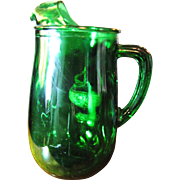 Beautiful 1950's Anchor Hocking Forest Green Pitcher