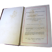 SALE 1907, English Proverbs and Proverbial Phrases by W. Carew Hazlitt‏