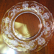 """Heisey Orchid Etched Salad Plate 8 1/4"""" (up to 3 available)"""