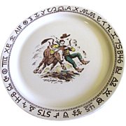 "Westward Ho Rodeo Pattern by Wallace 13"" Round Platter,  Rare"