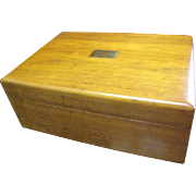 Elegant Hardwood Vintage Humidor, Excellent Condition!