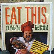 SALE Signed 1st Ed, Eat This...It'll Make You Feel Better! Dom DeLuise