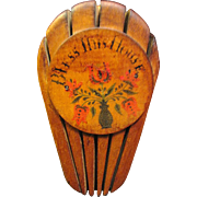 SALE Vintage Hand Painted Wooden Folk Art Knife Wall Rack