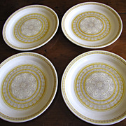 SALE Four Lovely  Franciscan Hacienda Gold Salad Plates (2 Lots available)