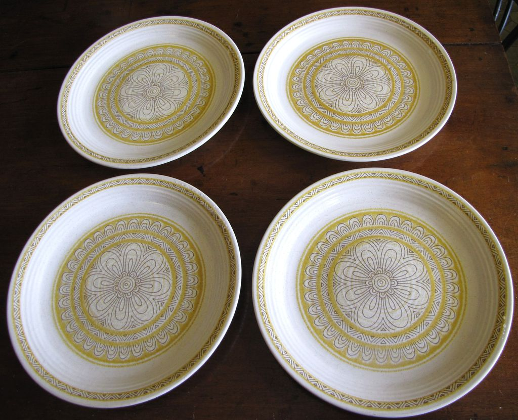 Four Lovely  Franciscan Hacienda Gold Salad Plates (2 Lots available)