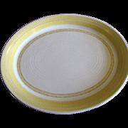 "SALE Large 14"" Serving Platter Hacienda Gold Pattern by Franciscan China"