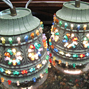 SOLD Cool PAIR of 1960's Retro Tiki Bar Swag Lamps by Lawnwear USA - Red Tag Sale Item