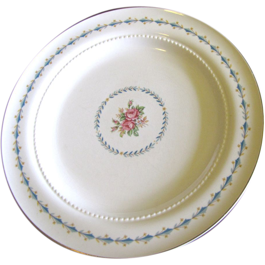 "Harmony House Mount Vernon 10 1/4"" Dinner Plate By Hall China"