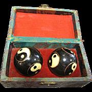 SALE Vintage Oriental Stress Reliever Chime Balls