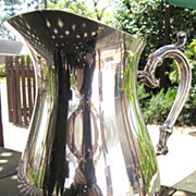 """SALE Lovely Vintage Ornate Silver-plated 9"""" Pitcher by Rogers"""