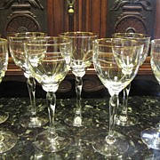 """Lenox Rhythm Gold Crystal 8 1/2"""" Water Goblet (up to 8 available)"""