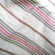 SALE 6 Yards of Heavy Woven Upholstery Fabric with Chenille Stripes