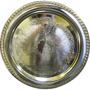 """Lovely Vintage 12"""" Silver Plated Serving Tray by Leonard"""