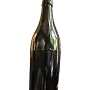 SALE Circa 1860 Beer or Ale 3 Sectional Molding Hand Blown Bottle
