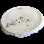 SALE Prettiest Antique Porcelain Teapot Stand, Carlsbad Victoria, circa 1900