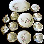SALE Heinrich Blossomtime Bavarian China 33 Piece Service for 6 Set