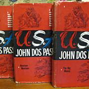 SOLD H, July John Dos Passos USA 1960 Trilogy - The 42nd Parallel, 1919  & The Big Moneyâ€