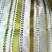 Vibrant 1 1/ 4 Yard Remnant of Vibrant Striped Taffeta Upholstery Fabric