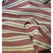 Interesting 3 Yards + Remnant of Horizontally Striped Chenille Brocade