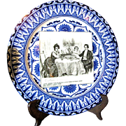 """SALE Royal Doulton Gibson Girls Plate """"A Quiet Dinner With Dr. Bottles"""""""