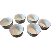 Six Delta Airlines 1st Class Small Server Cups Gold Rim ABCO