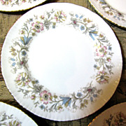 Five Vintage Bread Plates in the Meadow Vale Pattern by Paragon