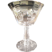SALE Fostoria Low Sherbet in the Silver Flutes Pattern (up to 8 available)