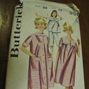 Cutest 1970's Butterick Size 14 Misses Sleepwear Lingerie Pattern