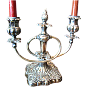 SALE Nice Old Silver Plated Candelabra by Meriden