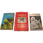 SALE Three Mid Century Poodle Classic Guides