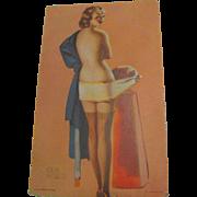 "SALE 1940's, ""Social Security""Pin Up Girl"" Mutoscope Arcade Lithograph Elvgren"