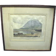 SALE Fine 1816 Engraving of N.Wales Coastline by William Daniell