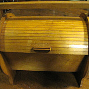 SOLD Roll Top Work, Writing or Craft Box, Sturdy, Nice!