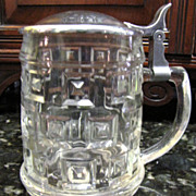 Leonard Crystal & Silver Plated Lidded Beer Stein