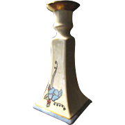 B & C Limoges Hand Painted Antique Candlestick