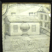 1939 Original Pencil Drawing of a Town Cottage by Sampson