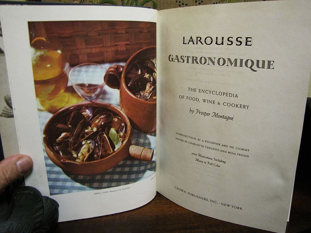 H july 1961 larousse gastronomique the first american edition from rubylane sold on ruby lane - Edition larousse cuisine ...