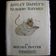 SALE Appley Dapply's Nursery Rhymes by Beatrix Potter circa 1970's