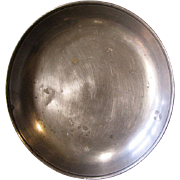 Antique German Pewter Bowl with Triple Angel Mark