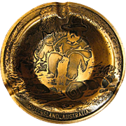Queensland Australia Copper Ashtray, Hand Crafted