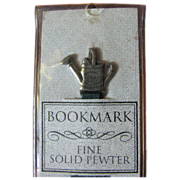 SALE Pewter & Green Ribbon 4 Strand Bookmark, Bob Siemon Designs