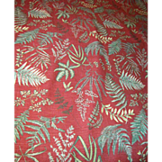 11 1/2 Yd Bolt End of 15 Color Screen Printed Fern Design Fabric by Waverly