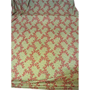 SOLD Massive 25 Yard Bolt End of Screen Printed Porch Fabric - Red Tag Sale Item