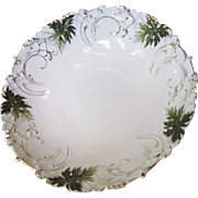 "SALE Ornate Victorian Hand Painted & Gilt Porcelain 9"" Bowl"