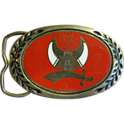 Shriner Solid Brass Belt Buckle by Heritage Buckles, 1981
