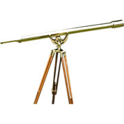 """SOLD For H March 55"""", Harbormaster Telescope by Stanley of London, Solid Brass"""